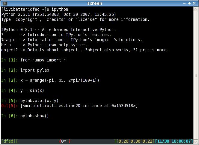 pylab on Ubuntu