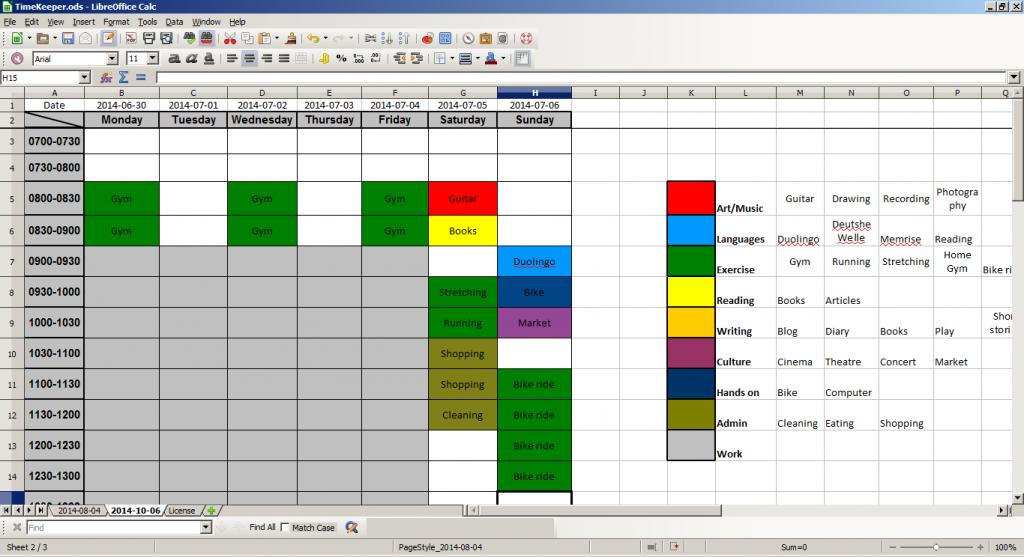 TimeKeeper spreadsheet