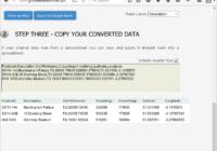 convert postcode coordinates - output