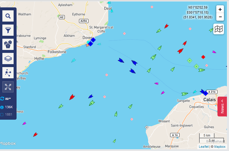 live transport data - marine traffic