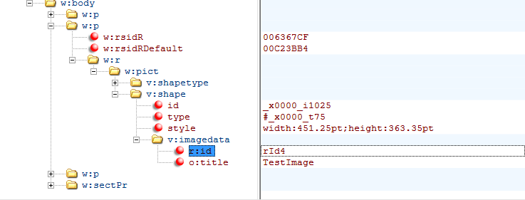 How Word Files Store Images - paragraphs - image