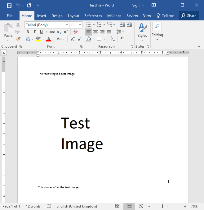 How Word Files Store Images - test word file