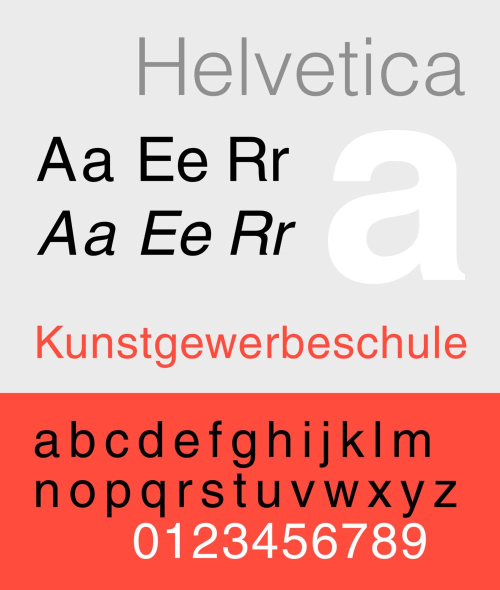 basic fonts - helvetica