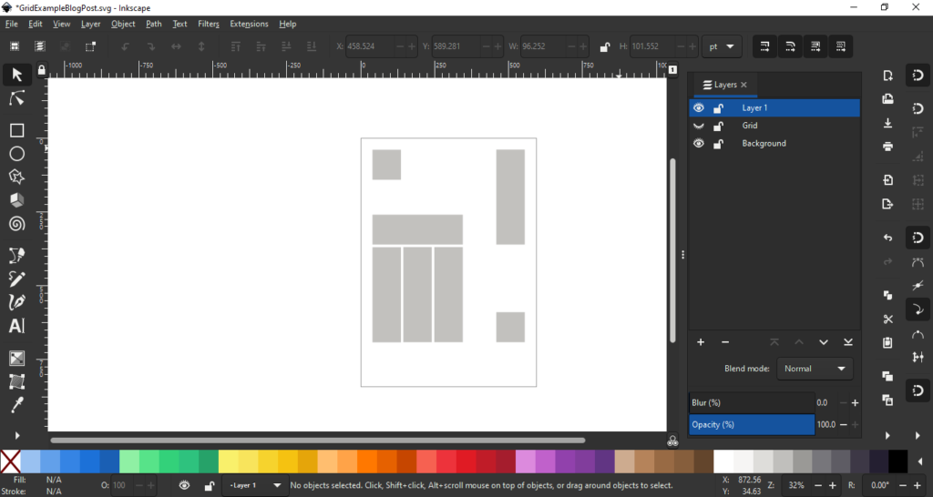 Inkscape hide the grid layer