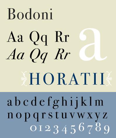 Basic fonts - Bodoni
