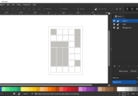 Inkscape example layout with grid lines - Inkscape Grid Layout